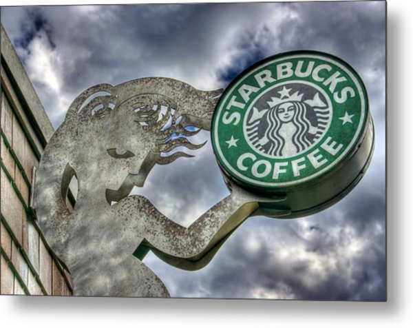Starbucks Coffee Metal Print