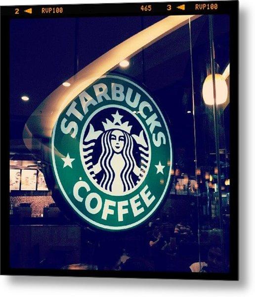 #starbucks #coffee #yummy #tasty #green Metal Print