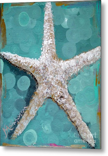 Starfish Goldie Metal Print