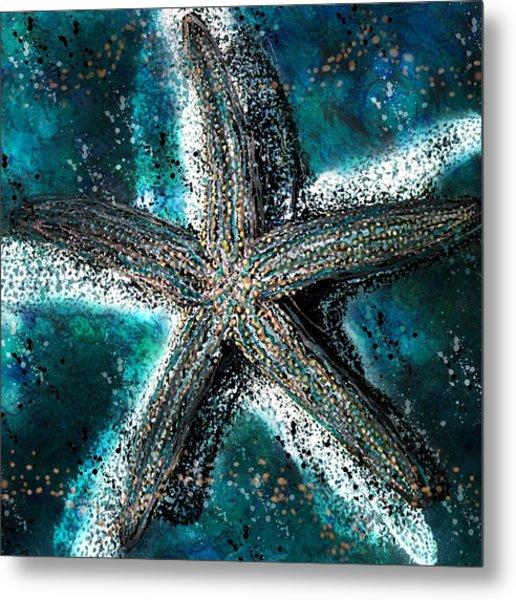 Starfish Ocean Deep Metal Print