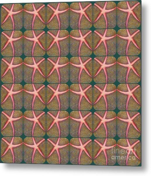 Starfish Pattern Metal Print