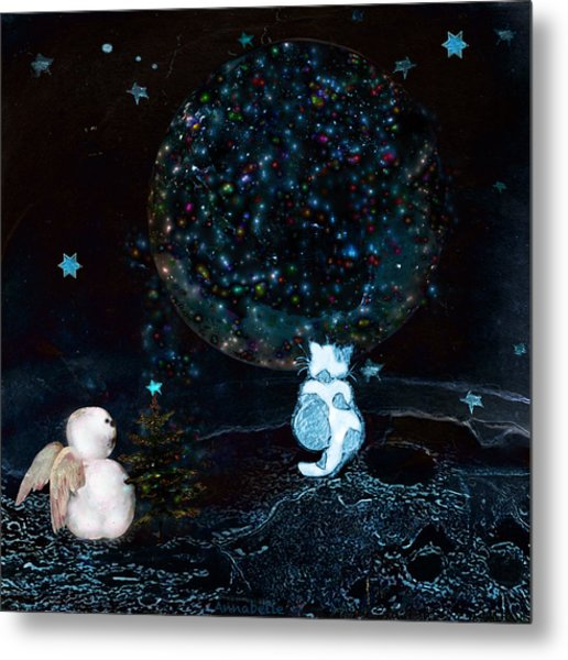 Blue Christmas Stargazers Metal Print