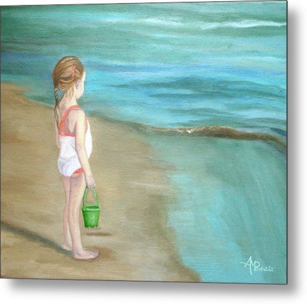 Staring At The Sea Metal Print