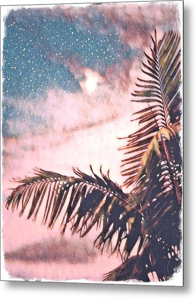 Starlight Palm Metal Print