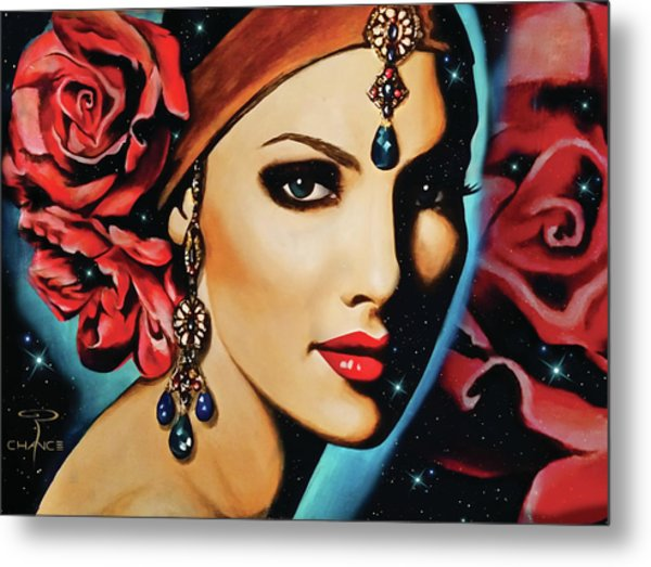 Starlight Rose Metal Print