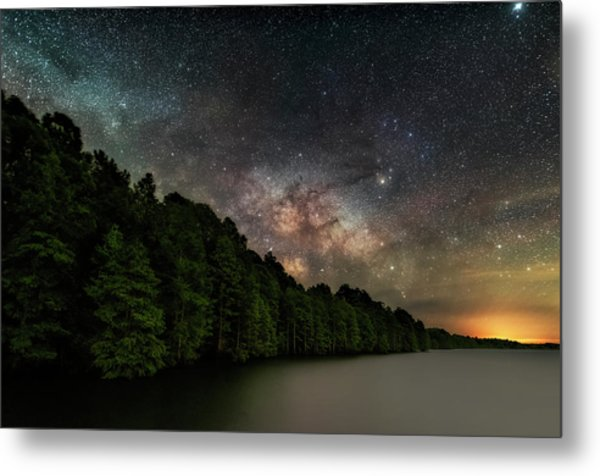 Starlight Swimming Metal Print