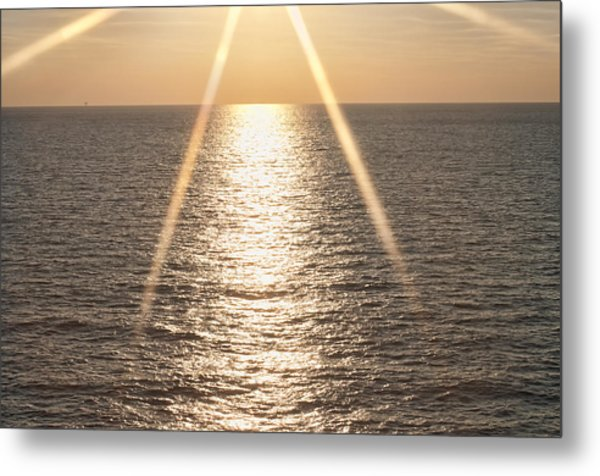 Starred Sunrise Metal Print by Bill Perry