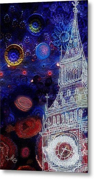 Starry Night In London Metal Print