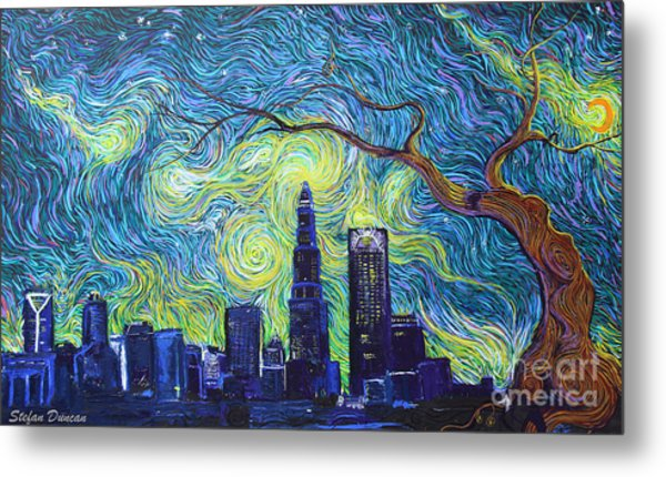 Starry Night Over The Queen City Metal Print