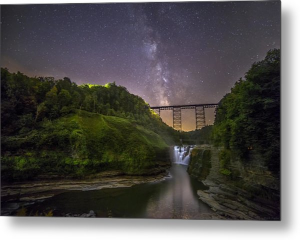 Starry Sky At Letchworth Metal Print