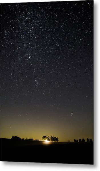 Starry Sky Over Virginia Farm Metal Print