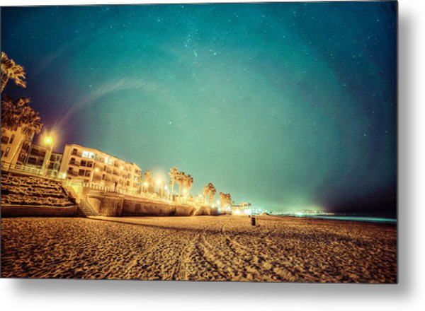Metal Print featuring the photograph Starry Starry Pacific Beach by T Brian Jones