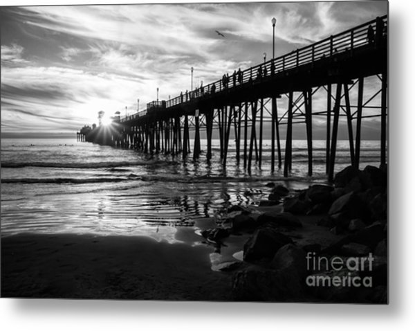 Stars And Swirls In Oceanside Metal Print