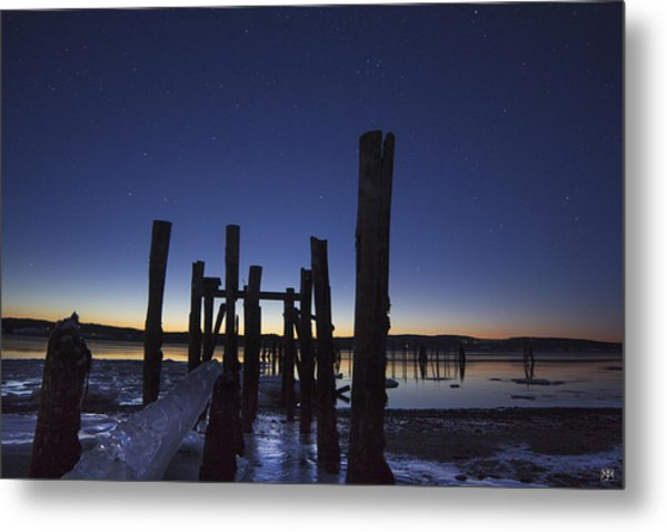 Stars At Sandy Point Sunrise  Metal Print