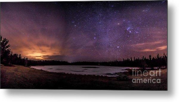 Stars Over Lake Eaton Metal Print