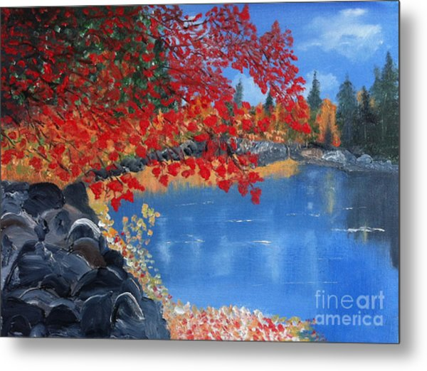 Start Of Fall Metal Print