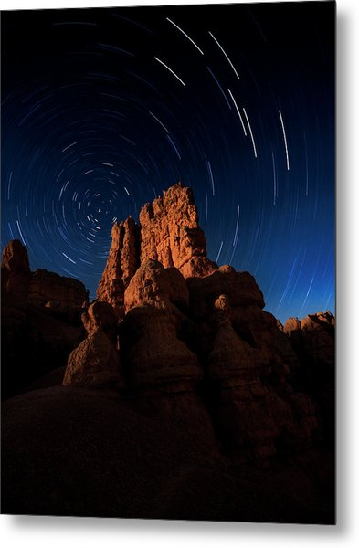 Metal Print featuring the photograph Stary Trails At Red Canyon by Edgars Erglis