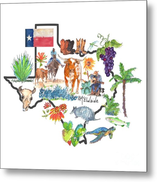 State Of Texas As I Know It Metal Print