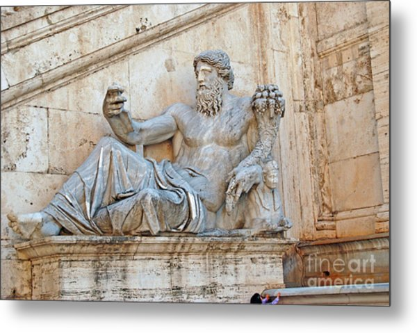 Statue Capitoline Hill Of Rome Italy Metal Print