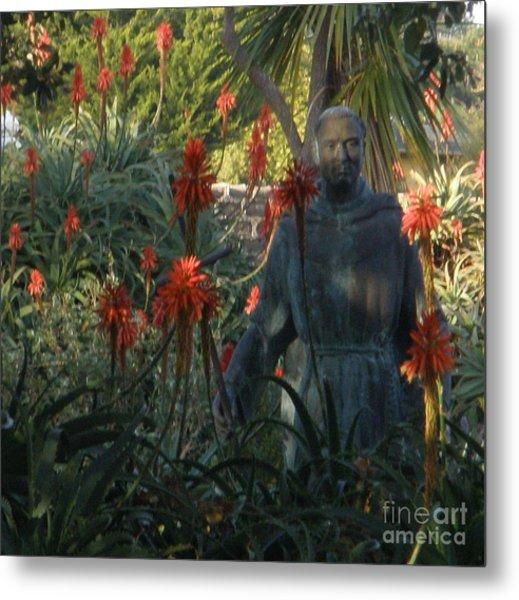 Statue In The Garden  Metal Print