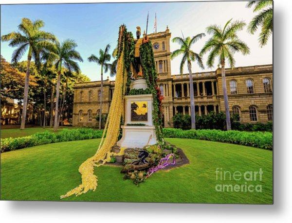 Statue Of, King Kamehameha The Great Metal Print