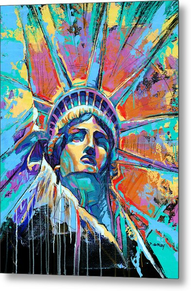 Statue Of Liberty New York Art Usa Metal Print