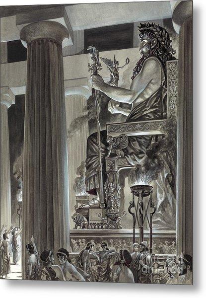 Statue Of Zeus At Olympia Metal Print