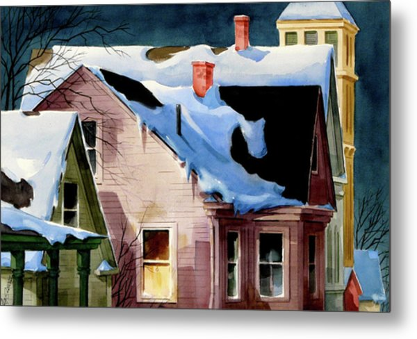 Staying In Metal Print by Art Scholz