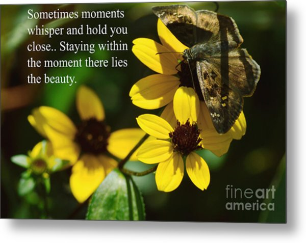 Staying Within The Moment Metal Print
