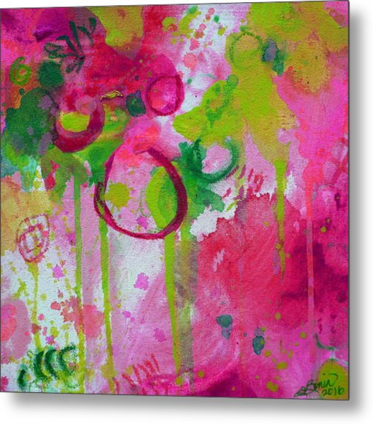 Metal Print featuring the painting Steal My Breath by Tracy Bonin