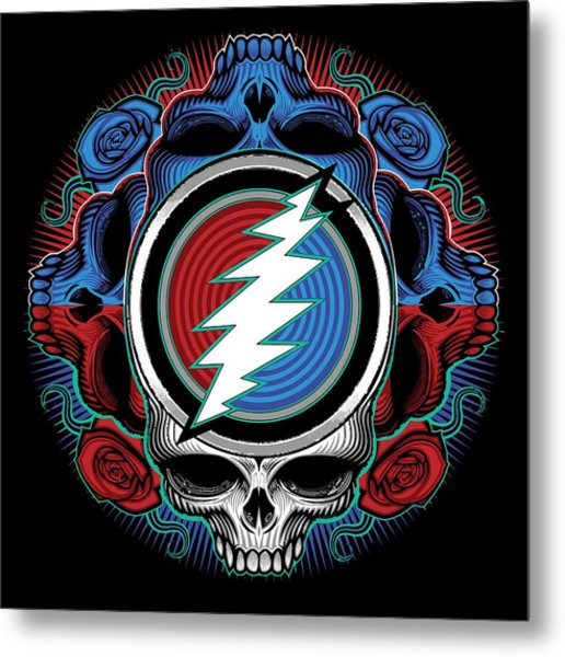 Steal Your Face - Ilustration Metal Print