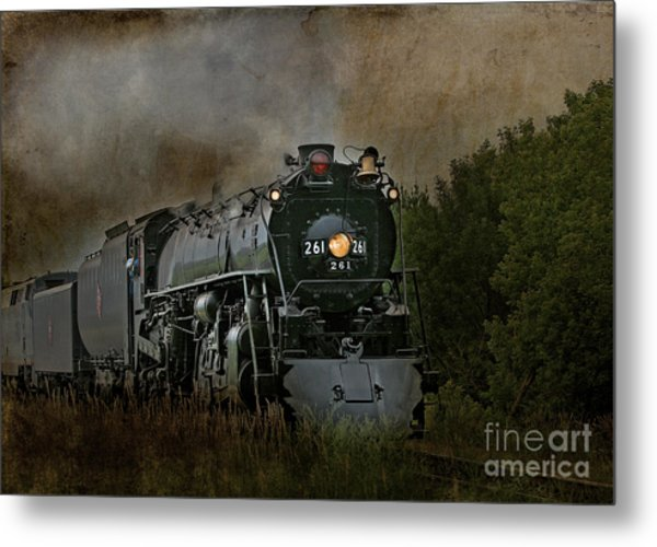 Steam Engine 261 Metal Print