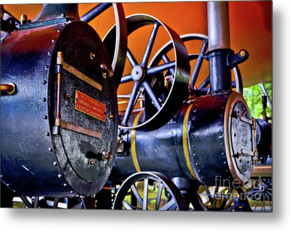 Steam Engines - Locomobiles Metal Print