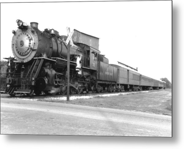 Steam In Motion Metal Print