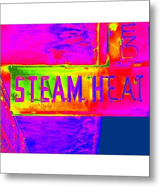 Steam Metal Print