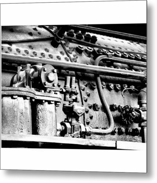 Steam Locomotive Detail Metal Print
