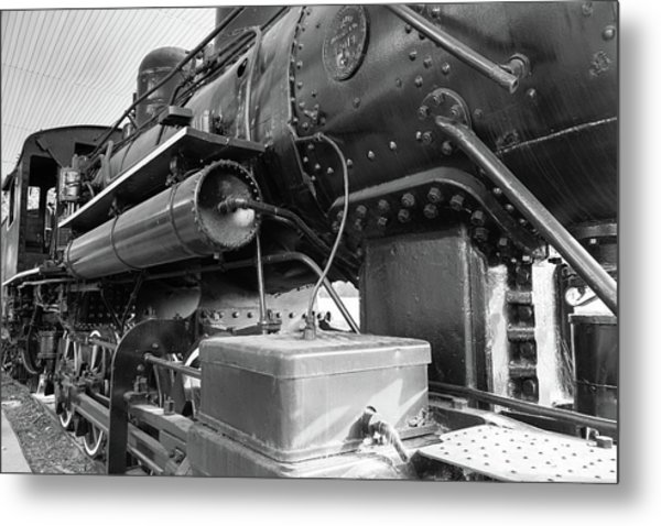 Metal Print featuring the photograph Steam Locomotive Side View by Doug Camara