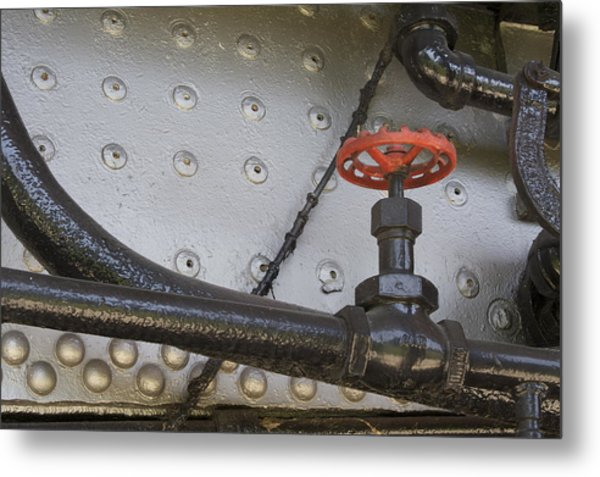 Steam Train Valve Metal Print