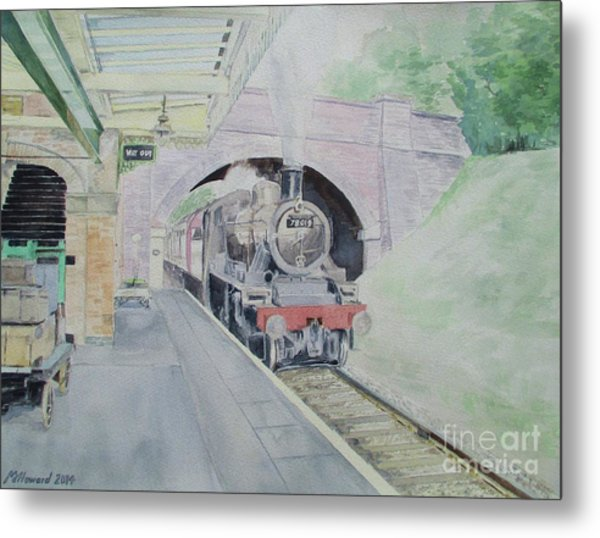 Steaming Into Rothley Metal Print