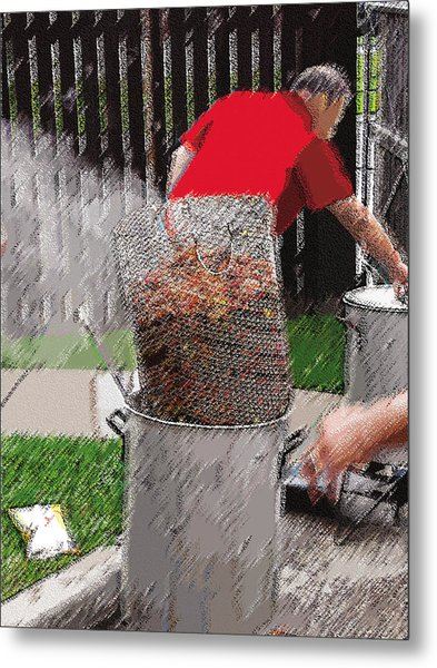 Steaming Mud Bugs For Falvor Metal Print