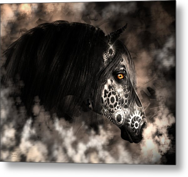 Steampunk Champion Metal Print