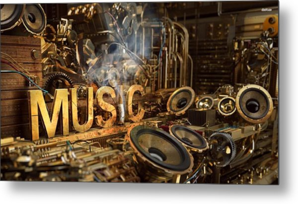 Steampunk Metal Print
