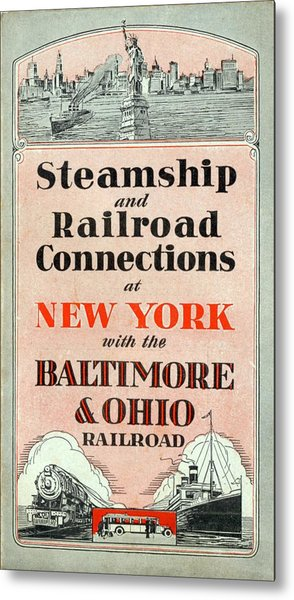 Steamship And Railroad Connections At New York Metal Print
