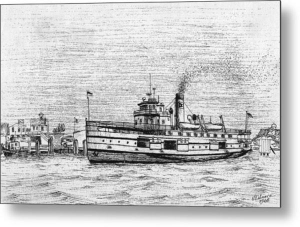 Steamship Nobska Metal Print