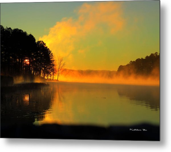 Steamy Sunrise Metal Print