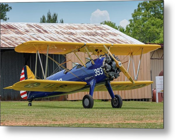 Stearman And Old Hangar Metal Print