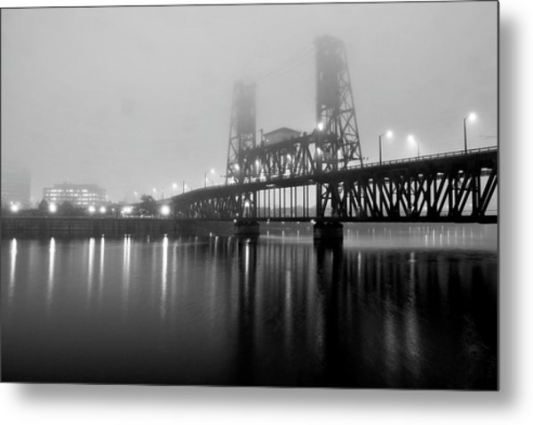 Steel Bridge Metal Print