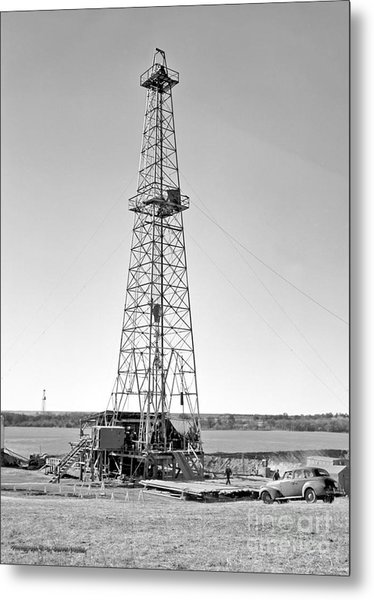 Steel Oil Derrick Metal Print