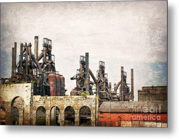 Steel Stacks  Metal Print