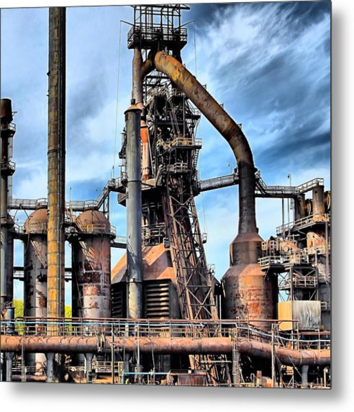 Steel Stacks Bethlehem Pa. Metal Print